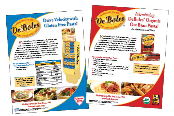 1 pagers with information for retailers
