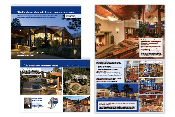 Brochure for high end real estate