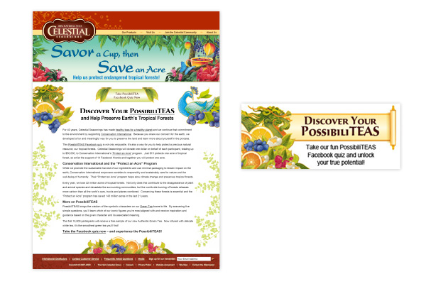 Web page and web banner for promotional event